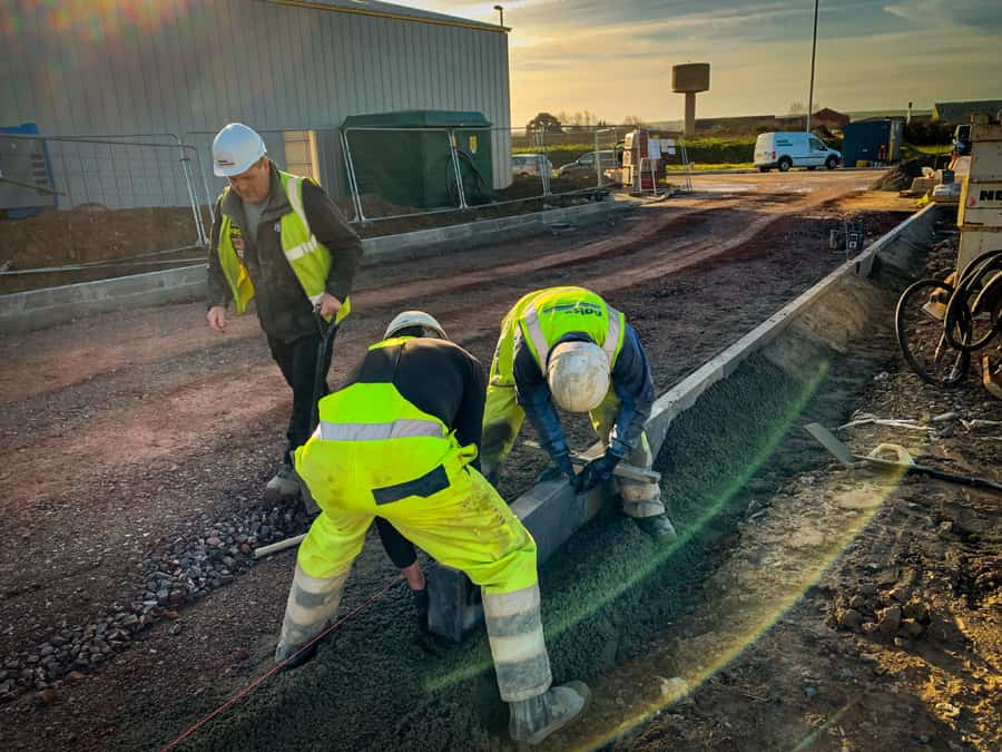 construction workers on chivenor business park