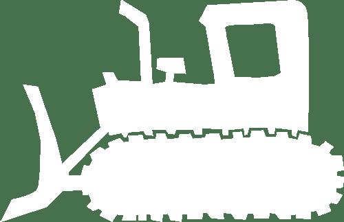 bulldozer icon white