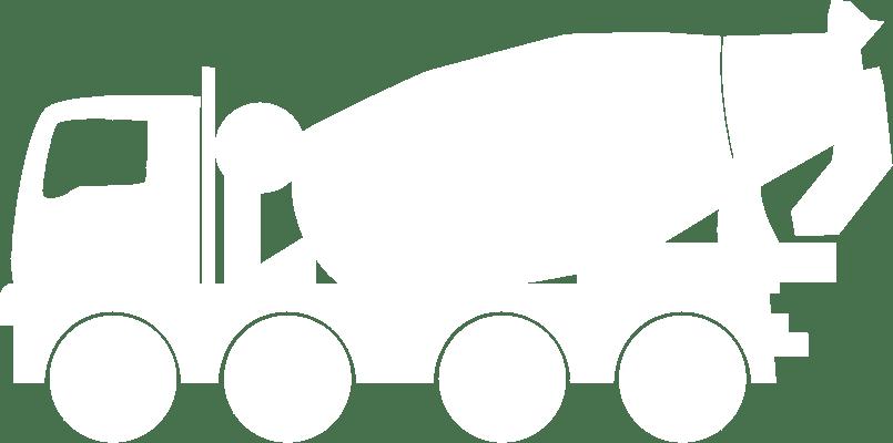 concrete mixer icon white